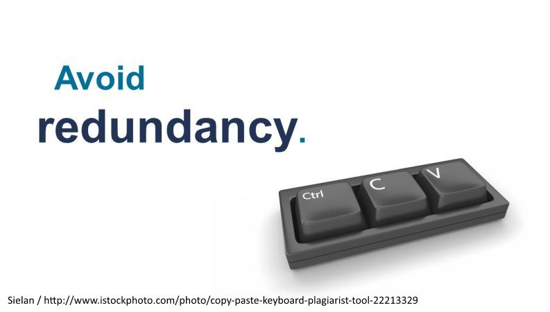 Avoid redundancy