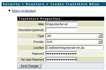 Create a Truststore Alias in webMethods Integration Server