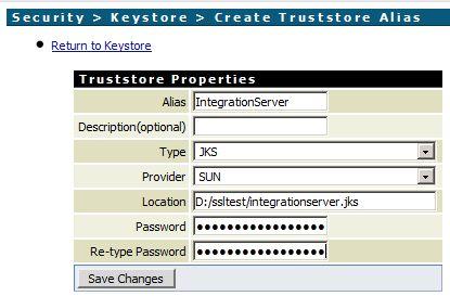 Create a Truststore Alias in webMethods Integration Server