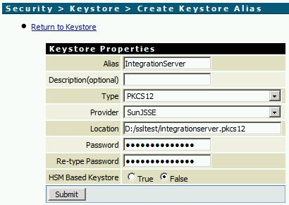 Create a Keystore Alias in webMethods Integration Server