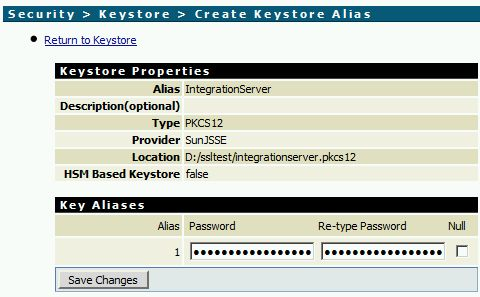 Add a Keystore Alias in webMethods Integration Server