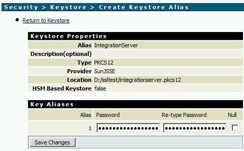 Add a Keystore Alias in webMethods Integration Server