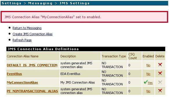 Test JMS Connection Alias in Integration Server