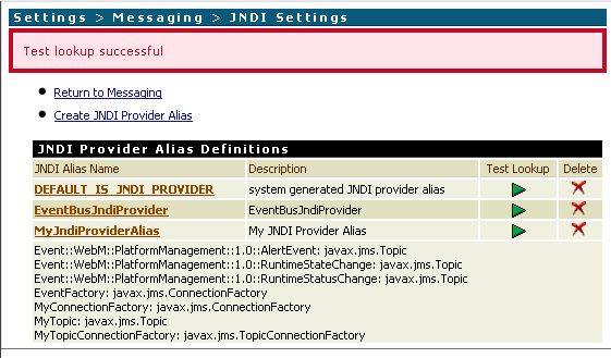 Test JNDI Alias in Integration Server