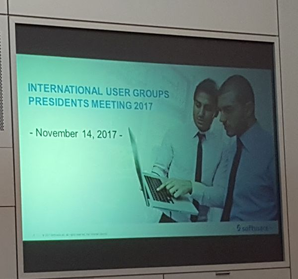 Welcome to the International User Groups Presidents Meeting
