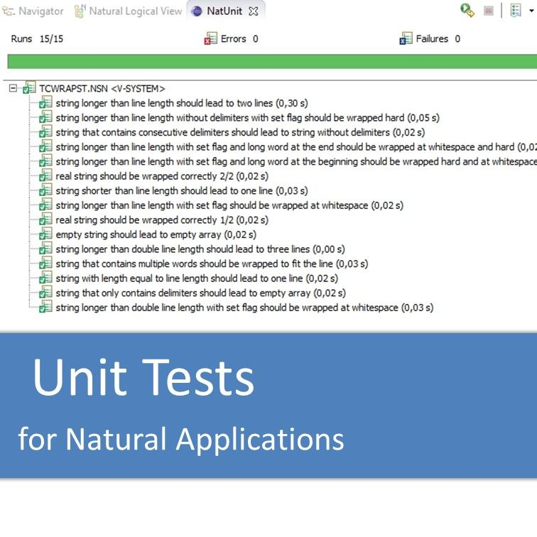 Unit Tests for Natural Applications with NatUnit