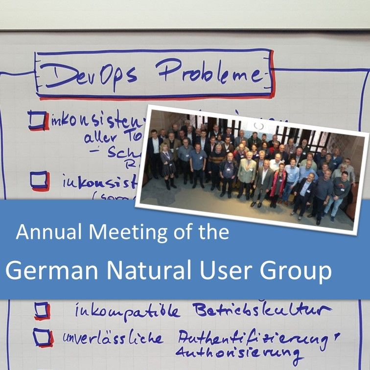 German Natural User Group Meeting in November 2018 – Legacy Coder Podcast #7